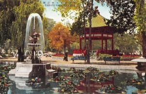 Tientsin China Yamato Park Fountain Gazebo Scenic Antique Postcard J74427