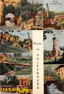 Netherlands Valkenburg multiviews Grendelpoort Ruine Oude Watermolen Train