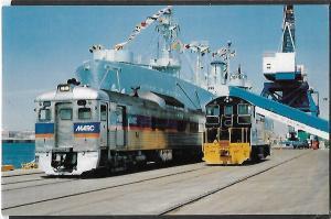 TRAINS,MARYLAND DUNDALK MAINE TERMINAL RDC 2 CAR