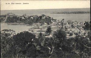 Port Antonio Jamaica Birdseye View c1910 Unused Postcard