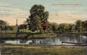 Illinois Springfield Reservoir Park Scene 1914