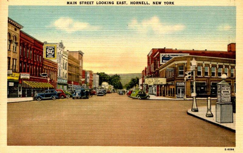 NY - Hornell. Main Street looking east