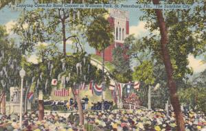 Florida St Petersburg Open Air Concert In Williams Park 1951 Curteich
