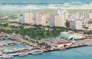 Florida Miami Aerial View Of Bayfront Park From Municipal Auditorium Looking ...