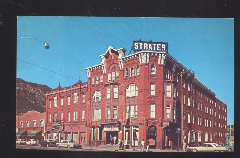 DURANGO COLORADO DOWNTOWN STREET SCENE 1960's CARS STRATER HOTEL POSTCARD