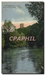 Postcard The Old Lavardin and Ch View taken from the banks of the Loir