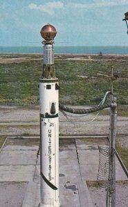 CAPE CANAVERAL, Florida, 1950-1960's; The NASA Echo Satellite, Thor-Delta Rocket