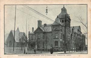 E87/ Toronto Ohio Postcard Jefferson Co c1910 Presbyterian Church Parsonage 24