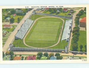Linen MUNICIPAL FOOTBALL STADIUM Bristol Tennessee & Virginia VA AC9897