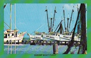 A Typical Shrimp Boat Fleet Seen All Along The Gulf Coast Of Corpus Christi T...