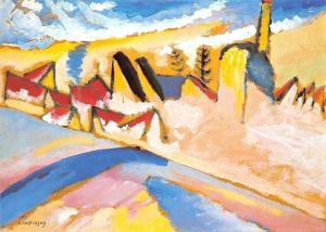 Wassily Kandinsky Studie Winter, Etude Hiver No. 2 Postcard