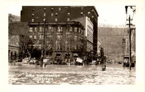 PA - Johnstown. March 18, 1936 Flood. Main & Market Sts.   *RPPC