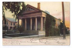 Pilgrim Hall Plymouth MA Rotograph 1905 Color Lithograph UND