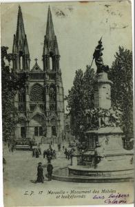 CPA Marseille-Monument des Mobiles et les Réformés (185771)