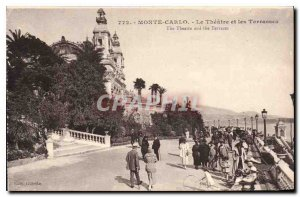 Old Postcard Monte Carlo Theater and the Terrasses