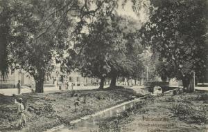 suriname, PARAMARIBO, Steenbakkersgracht, Bokkobrug (1899)