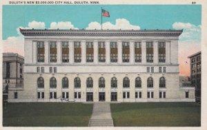 DULUTH, Minnesota, 1910s; Duluth's New $2,000,000 City Hall