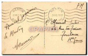 Menton Old Postcard General view