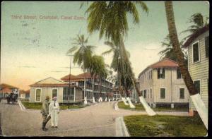 Canal Zone, Panama, CRISTOBAL, Third Street, People (1913)