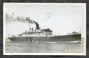 dc96 - Steamer SS Kent 1947 Real Photo Postcard