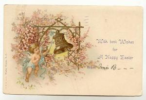 Winged Baby Angel Ringing Easter Bell,  Walter Wirths A&MB 24