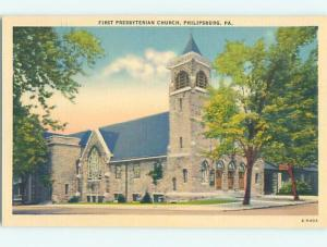 Unused Linen CHURCH Philipsburg - Near Clearfield & State College PA A8298