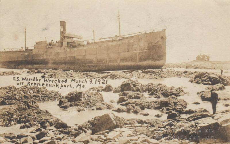 RP; KENNEBUNKPORT , Maine , 1921 ; Shipwreck of S.S. WANDBY