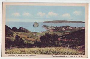 P947 old card panorama view of perce P.Q.from nw-P.N.I. quebec canada