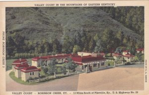 Kentucky Valley Court In The Mountains Of Eastern Kentucky Curteich sk1334