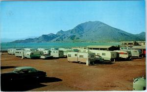 GUAYMAS, Sonora MEXICO  Hotel Miramar TRAILER PARK    c1950s Roadside Postcard*