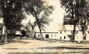 Kezar Falls ME The Covered Bridge Horse & Wagons Real Photo Postcard