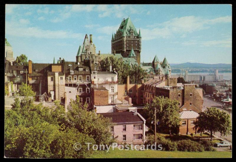 View of Chateau Frontenac from Citadel, Quebec City