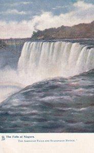 NIAGARA FALLS, 1900-1910's; The Falls Of Niagara, The American Falls And Susp...