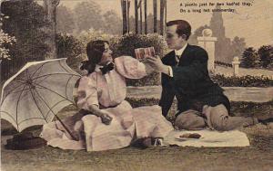 Romantic Couple On A PIcnic 1909