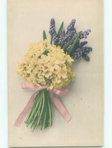 Very Old Foreign Postcard BEAUTIFUL FLOWERS SCENE AA4671