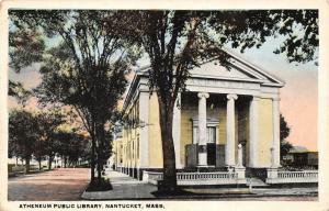 Nantucket Massachusetts~Atheneum Public Library~1920s Postcard