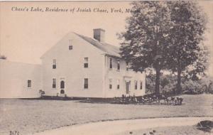 Maine York Chase's Lake Residence Of Josiah Chase