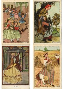 RIE CRAMER ILLUSTRATEUR Mostly CHILDREN, COLLECTION OF 200 CPA (L3745)