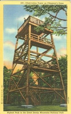Observation Tower on Clingman's Dome, Great Smoky Mountai...