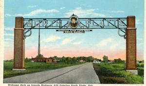 NE - North Platte, Welcome Arch Over The Lincoln Highway