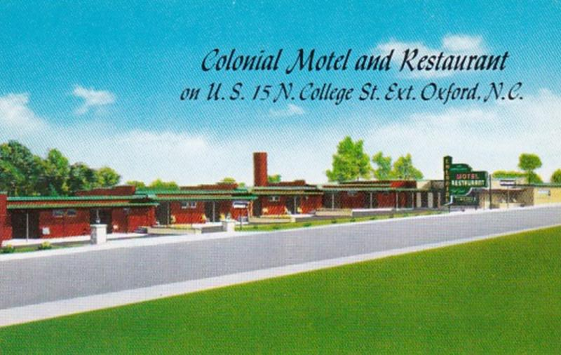 North Carolina Oxford Colonial Motel and Restaurant
