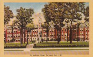 Iowa Davenport St Ambrose College Dexter Press