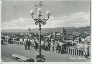 Italy, Firenze, Panorama, 1956 used Postcard