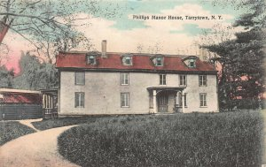 Phillips Manor House, Tarrytown, N.Y., Hand Colored Postcard, Used in 1910