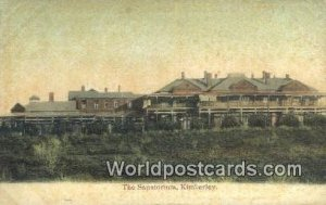 Sanatorium Kimberley South Africa Writing on back
