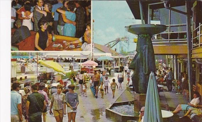 Indiana Monticello Beach Boardwalk And Roof Garden Lounge 1964