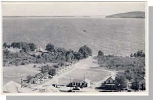 Belfast, Maine/ME Postcard, Aerial View Of Penobscot Bay Cabins, US Route 1