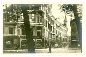 Gothenburg Sweden Street View Old Cars RPPC Real Photo Postcard