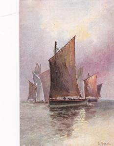 A. STEAD; Sailing Vessels on tranquil waters, 00-10s