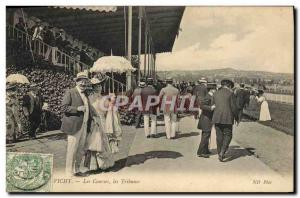 Old Postcard Horse Riding Equestrian Vichy racing grandstand